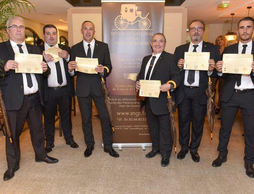 """Remise des diplômes """"Chauffeur d'Or"""" pour la promotion d'octobre 2017 à Cannes"""